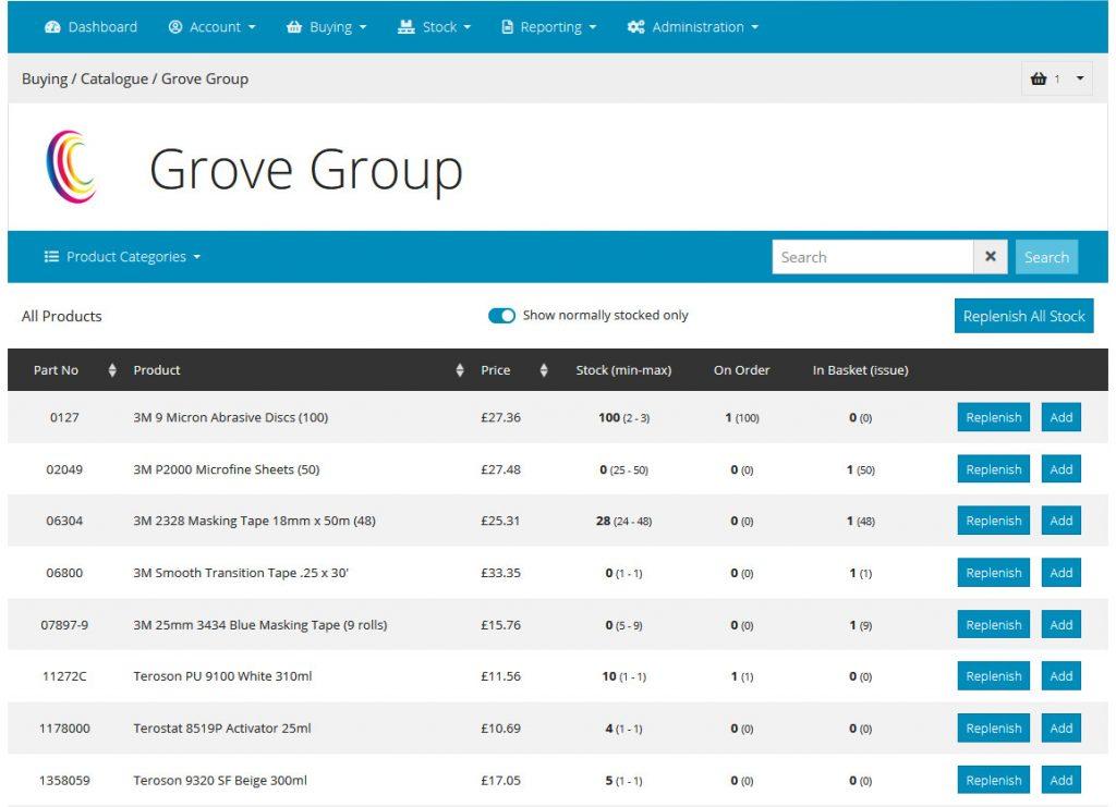 Grove Integrum: Stock Replenishment